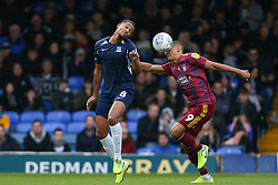 Timothee Dieng of Southend United and Kayden Jackson of Ipswich Town challenge for the ball - Mandatory by-line: Arron Gent/JMP - 27/10/2019 - FOOTBALL - Roots Hall - Southend-on-Sea, England - Southend United v Ipswich Town - Sky Bet League One