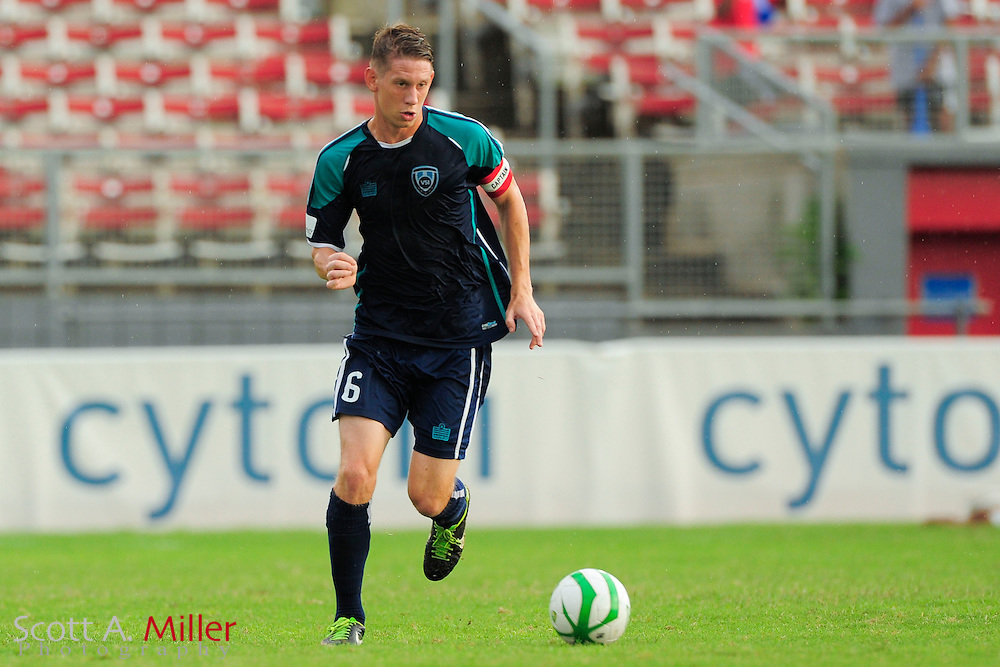 VSI Tampa Bay FC defender Kyle Hoffer (6) in action against the Phoenix FC Wolves in a USL Pro soccer match at Plant City stadium in Plant City, Florida on June 9, 2013.<br /> <br /> &copy;2013 Scott A. Miller