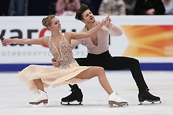 January 20, 2018 - Moscow, Russia - ALEXANDRA STEPANOVA and IVAN BUKIN of Russia perform during an ice dance free dance event at the 2018 ISU European Figure Skating Championships, at Megasport Arena. (Credit Image: © Igor Russak/NurPhoto via ZUMA Press)
