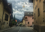ROAD TRIP: Photographers Georgie Gillard and Rick Findler drove 1,973 miles and through nine countries for a friends wedding in Lake Garda, Northern Italy. Armed only with an iPhone and pushed for time, they decided to document their journey through the windscreen of their car.<br /> Pictured: Tarrenz, Austria.
