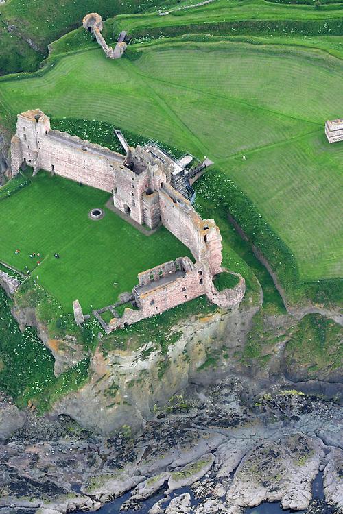 Aerial shot of Tantallon castle, nr Dunbar, East Lothian, Scotland