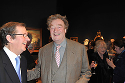 Right, CHRISTOPHER SYKES at a party to celebrate the publication of The irish Country House written by The Knight of Glin and James Peill with photographs by James Fennell, held at Christie's, King Street, London on 24th January 2011.