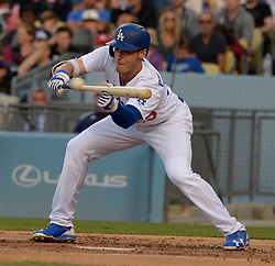 June 10, 2017 - Los Angeles, California, U.S. - Los Angeles Dodgers' Cody Bellinger against the Cincinnati Reds in the first inning of a Major League baseball game at Dodger Stadium on Saturday, June 10, 2017 in Los Angeles. (Photo by Keith Birmingham, Pasadena Star-News/SCNG) (Credit Image: © San Gabriel Valley Tribune via ZUMA Wire)