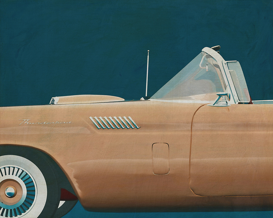 If you want to give your interior an extra stylish detail, this painting of a Ford Thunderbird is perfect. –<br />