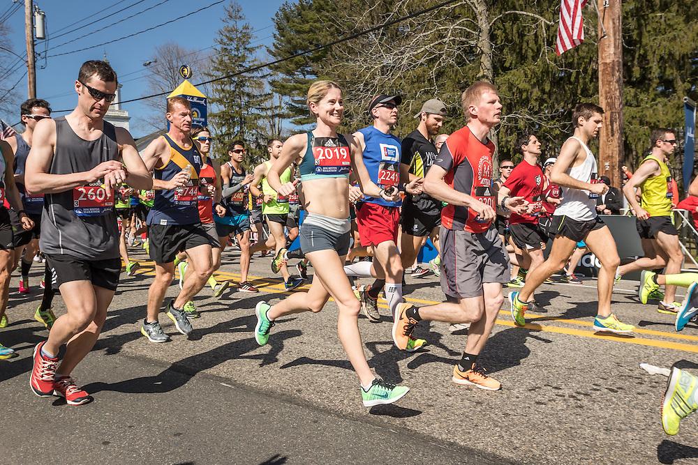 Karen Lockyer, Boston Marathon start