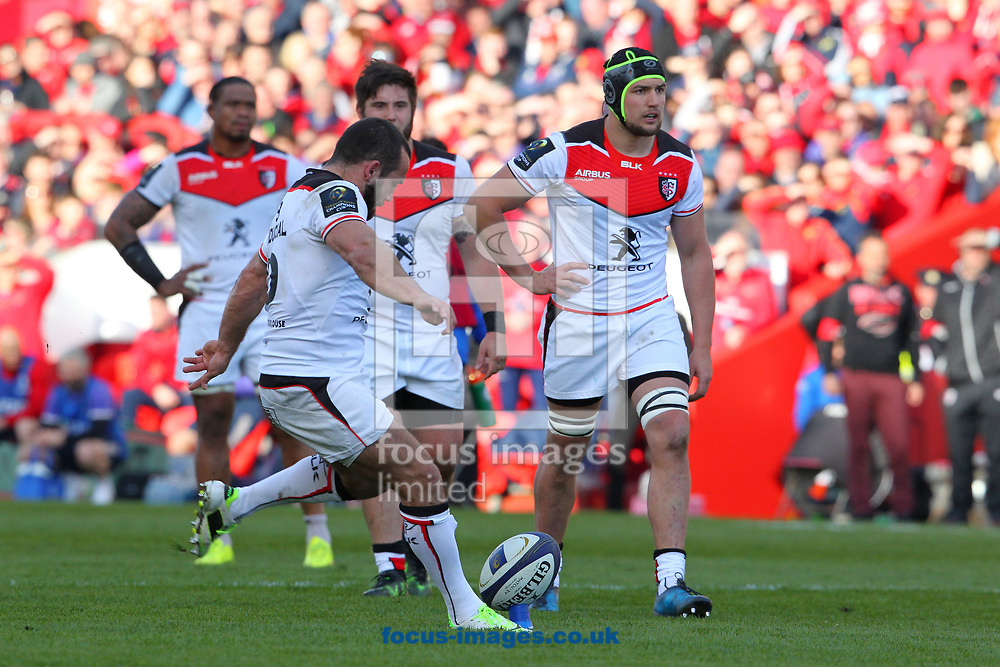 Jean- Marc Doussain of Stade Toulousain during the European Rugby Champions Cup match at Thomond Park, Limerick<br /> Picture by Yannis Halas/Focus Images Ltd +353 8725 82019<br /> 01/04/2017