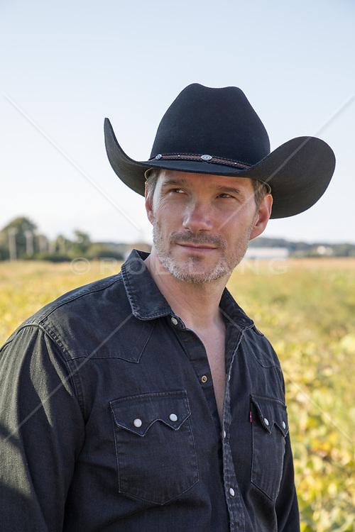 hot cowboy outdoors