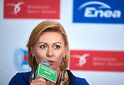 Warsaw, Poland - 2017 October 03: Magalena Hilszer (Enea) attends press conference of Polish Rowing National Team at Chopin Airport on October 03, 2017 in Warsaw, Poland.<br /> <br /> Mandatory credit:<br /> Photo by &copy; Adam Nurkiewicz / Mediasport<br /> <br /> Adam Nurkiewicz declares that he has no rights to the image of people at the photographs of his authorship.<br /> <br /> Picture also available in RAW (NEF) or TIFF format on special request.<br /> <br /> Any editorial, commercial or promotional use requires written permission from the author of image.