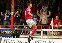 Fotball<br /> England 2005/2006<br /> Foto: SBI/Digitalsport<br /> NORWAY ONLY<br /> <br /> Swindon v Yeovil<br /> Coca Cola League 1.<br /> 27/08/2005.<br /> <br /> Swindon's Colin Heath celebrates his scoring