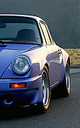 Image of a blue 1974 Porsche 911 RS sports car in Washington state, Pacific Northwest, property released