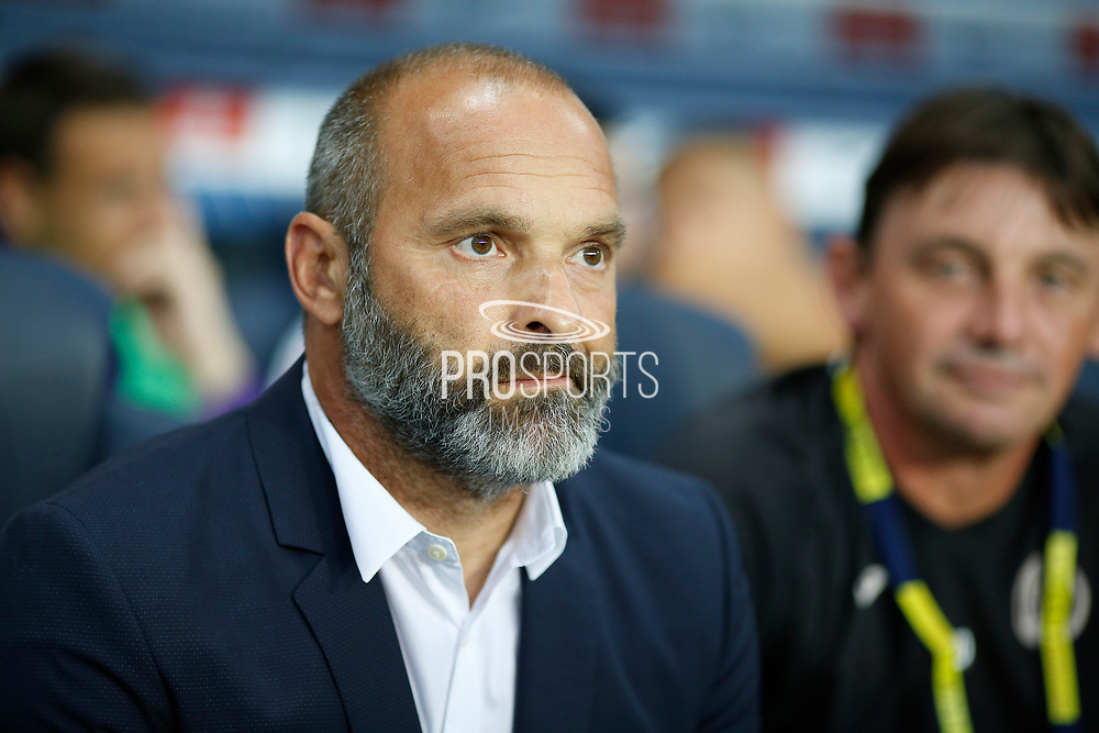 Toulouse Football Club's French coach Pascal Dupraz looks on during the French championship L1 football match between Paris Saint-Germain (PSG) and Toulouse, on August 20, 2017, at the Parc des Princes, in Paris, France - Photo Benjamin Cremel / ProSportsImages / DPPI