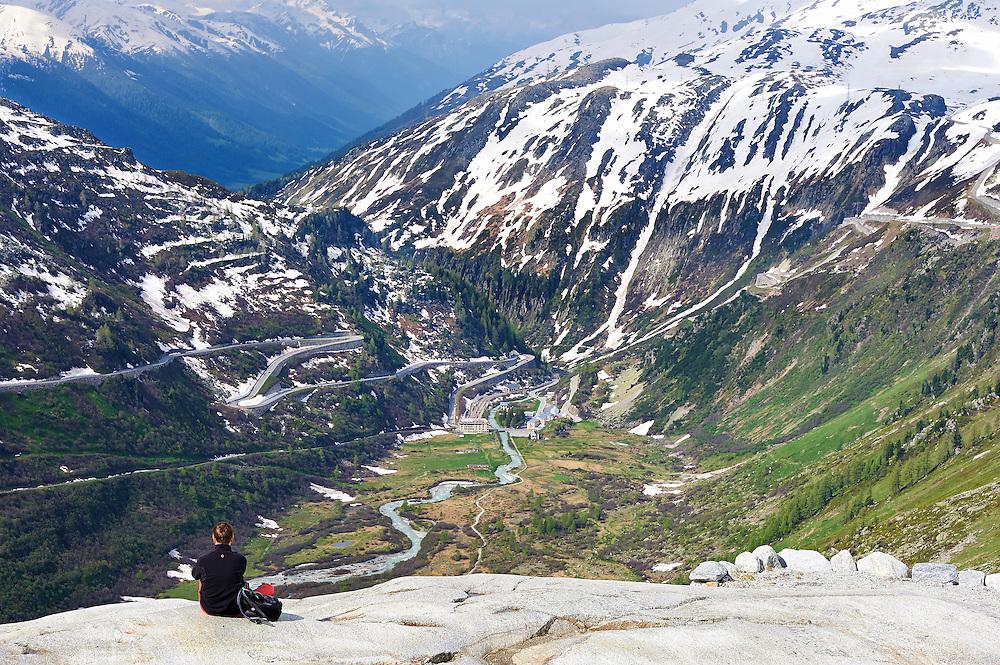 Switzerland -  Upper Rhone Valley from Furka Pass
