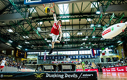 Dunking Devils perform during basketball match between KK Sixt Primorska and KK Petrol Olimpija in semifinal of Spar Cup 2018/19, on February 16, 2019 in Arena Bonifika, Koper / Capodistria, Slovenia. Photo by Vid Ponikvar / Sportida