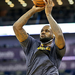 Dec 12, 2014; New Orleans, LA, USA; Cleveland Cavaliers forward LeBron James warms up prior to tip off of a game against the New Orleans Pelicans at the Smoothie King Center. Mandatory Credit: Derick E. Hingle-USA TODAY Sports
