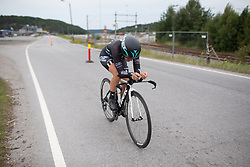 Hannah Payton (GBR) of Drops Cycling Team digs deep during the prologue of the Ladies Tour of Norway - a 3.4 km time trial, starting and finishing in Halden on August 17, 2017, in Ostfold, Norway. (Photo by Balint Hamvas/Velofocus.com)