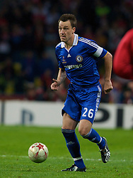 MOSCOW, RUSSIA - Wednesday, May 21, 2008: Chelsea's captain John Terry during the UEFA Champions League Final against Manchester United at the Luzhniki Stadium. (Photo by David Rawcliffe/Propaganda)