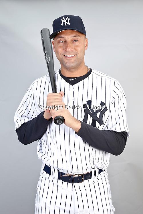 Feb 20, 2013; Tampa, FL, USA; New York Yankees shortstop Derek Jeter (2) during photo day at Steinbrenner Field. Mandatory Credit: Derick E. Hingle-USA TODAY Sports