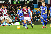 Aston Villa midfielder Ashley Westwood (15) looks to release the ball during the EFL Sky Bet Championship match between Aston Villa and Leeds United at Villa Park, Birmingham, England on 29 December 2016. Photo by Dennis Goodwin.