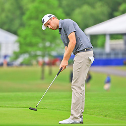 May 2, 2016; Avondale, LA, USA; Chris Kirk putts from the 18th green during the continuation of the third round of the 2016 Zurich Classic of New Orleans at TPC Louisiana. The tournament has been shortened to 54 holes due to weather delays throughout the week. Mandatory Credit: Derick E. Hingle-USA TODAY Sports