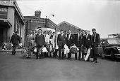 1963 - Ulster Schools Cricket team arrive at Amiens Street (Connolly) Station