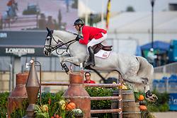 RYAN Davin (USA), Eddie Blue<br /> Tryon - FEI World Equestrian Games™ 2018<br /> FEI World Individual Jumping Championship<br /> Third cometition - Round A<br /> 3. Qualifikation Einzelentscheidung 1. Runde<br /> 23. September 2018<br /> © www.sportfotos-lafrentz.de/Stefan Lafrentz
