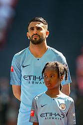 August 5, 2018 - Riyad Mahrez of Manchester City during the 2018 FA Community Shield match between Chelsea and Manchester City at Wembley Stadium, London, England on 5 August 2018. (Credit Image: © AFP7 via ZUMA Wire)