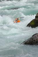 Whitewater kayaking on the Skykomish River, Washington