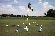 Practice putting area, The Track at The Meydan Golf Club, Dubai, United Arab Emirates.  31/01/2016. Picture: Golffile | David Lloyd<br /> <br /> All photos usage must carry mandatory copyright credit (© Golffile | David Lloyd)