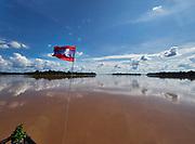 Laos, Champasak province. Vat Phou Cruise. Entering the Four Thousand Islands of the Mekong.
