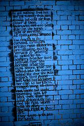 UK ENGLAND LONDON 4NOV12 - Street art poem and graffiti near Brick Lane and Shoreditch in London's trendy east end.....jre/Photo by Jiri Rezac....© Jiri Rezac 2012