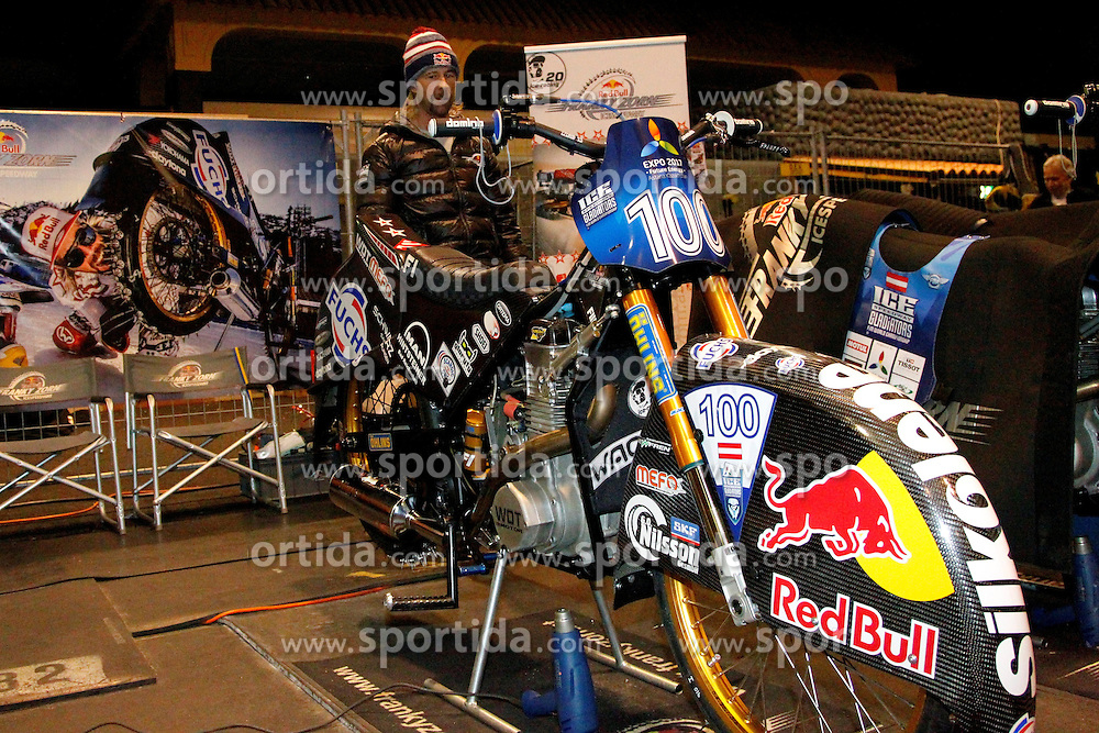13.03.2016, Assen, BEL, FIM Eisspeedway Gladiators, Assen, im Bild Franz Zorn (AUT) // during the Astana Expo FIM Ice Speedway Gladiators World Championship in Assen, Belgium on 2016/03/13. EXPA Pictures &copy; 2016, PhotoCredit: EXPA/ Eibner-Pressefoto/ Stiefel<br /> <br /> *****ATTENTION - OUT of GER*****