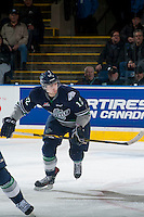 KELOWNA, CANADA - JANUARY 16: Ryan Gropp #12 of Seattle Thunderbirds skates against the Kelowna Rockets on January 16, 2015 at Prospera Place in Kelowna, British Columbia, Canada.  (Photo by Marissa Baecker/Shoot the Breeze)  *** Local Caption *** Ryan Gropp;