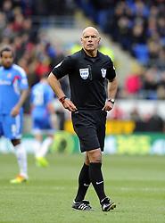 Referee, Howard Webb - Photo mandatory by-line: Joe Meredith/JMP - Tel: Mobile: 07966 386802 22/02/2014 - SPORT - FOOTBALL - Cardiff - Cardiff City Stadium - Cardiff City v Hull City - Barclays Premier League