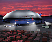 Thunderbird 2 flies again: The astonishing airship set to revolutionise haulage, tourism... and warfare<br /> <br /> A radical new kind of airship funded by the US military is about to make its first test flight - and it looks uncannily like the Thunderbird 2 craft from the classic TV show.<br /> The Aeroscraft airship will carry three times as much as the biggest military cargo planes over thousands of miles, use a third of the fuel, and it doesn't even need a landing strip.<br /> It could also have major implications for cargo haulage, and almost everything now laboriously transported across the planet's surface by boat, train and lorry could within years be carried through the skies, its makers claim.<br /> California-based aviation firm Aeros, with heavy backing from the U.S. military, has been developing their revolutionary Aeroscraft for several years, and they say the airship is now in its final stages.<br /> They have built a prototype which they hope will finally prove the concept works in practice and allow them to fine tune their systems.<br /> At 77m (250ft) in length, it is just half the size of the final model, but has been built with the same rigid structure, flight control systems and landing gear.<br /> Now all that needs to be done is for it to demonstrate the vertical take-off and landing that will make possible the point-to-point delivery features that will make it perfect for the commercial market.<br /> <br /> The finished version of the Aeroscraft - expected to be ready in three years - will carry a payload of 66 tons at a speed of 120 knots, upto 18,000ft with a range of 3000 nautical miles.<br /> That could revolutionise air transport, opening up remote areas where there is practically no other means of access.<br /> It could carry relief supplies for victims in disaster areas, heavy oil-extraction equipment to northern Canada's tar sands, huge turbines to remote wind farms and, of course, heavy military equipment to battlefields worldwide.<