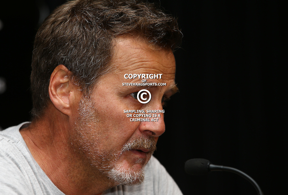 DURBAN, SOUTH AFRICA - SEPTEMBER 08: Robert du Preez (Head Coach) of the Cell C Sharks during the Cell C Sharks XV press conference at Growthpoint Kings Park on September 08, 2016 in Durban, South Africa. (Photo by Steve Haag/Gallo Images)