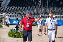 TEBBEL Rene (Trainer), TEBBEL Maurice (GER)<br /> Tryon - FEI World Equestrian Games™ 2018<br /> 2. Qualifikation Teamwertung 2. Runde<br /> 21. September 2018<br /> © www.sportfotos-lafrentz.de/Stefan Lafrentz
