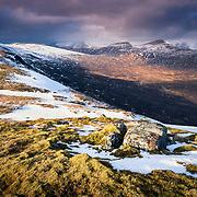 Sgor Gaibhre and Sgor Choinnich from Carn Dearg, Corrour, Highland