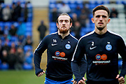 Peterborough United striker Jack Marriott (14) and Peterborough United defender Liam Shephard (2) warming up before the The 4th round FA Cup match between Peterborough United and Leicester City at London Road, Peterborough, England on 27 January 2018. Photo by Nigel Cole.