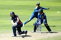 Heather Knight of England Women plays a sweep shot - Mandatory by-line: Robbie Stephenson/JMP - 02/07/2017 - CRICKET - County Ground - Taunton, United Kingdom - England Women v Sri Lanka Women - ICC Women's World Cup Group Stage