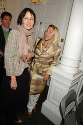Left to right, LUCY BIRLEY and MAIA HIRST at a lunch in aid of African Solutions To African Problems held at Il Bottaccio, 9 Grosvenor Place, London on 20th May 2008.<br /><br />NON EXCLUSIVE - WORLD RIGHTS