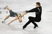 KELOWNA, BC - OCTOBER 26:  Aleksandra Boikova and Dmitrii Kozlovskii of Russia competes in pairs free skate during Skate Canada International at Prospera Place on October 25, 2019 in Kelowna, Canada. (Photo by Marissa Baecker/Shoot the Breeze)