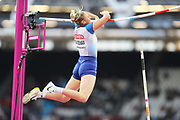 Holly Bradshaw during final at the IAAF World Championships at the London Stadium, London, England on 6 August 2017. Photo by Myriam Cawston.