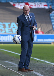 Millwall Manager, Ian Holloway handles the ball - Photo mandatory by-line: Robin White/JMP - Tel: Mobile: 07966 386802 15/03/2014 - SPORT - FOOTBALL - The Den - Millwall - Millwall v Charlton Athletic - Sky Bet Championship