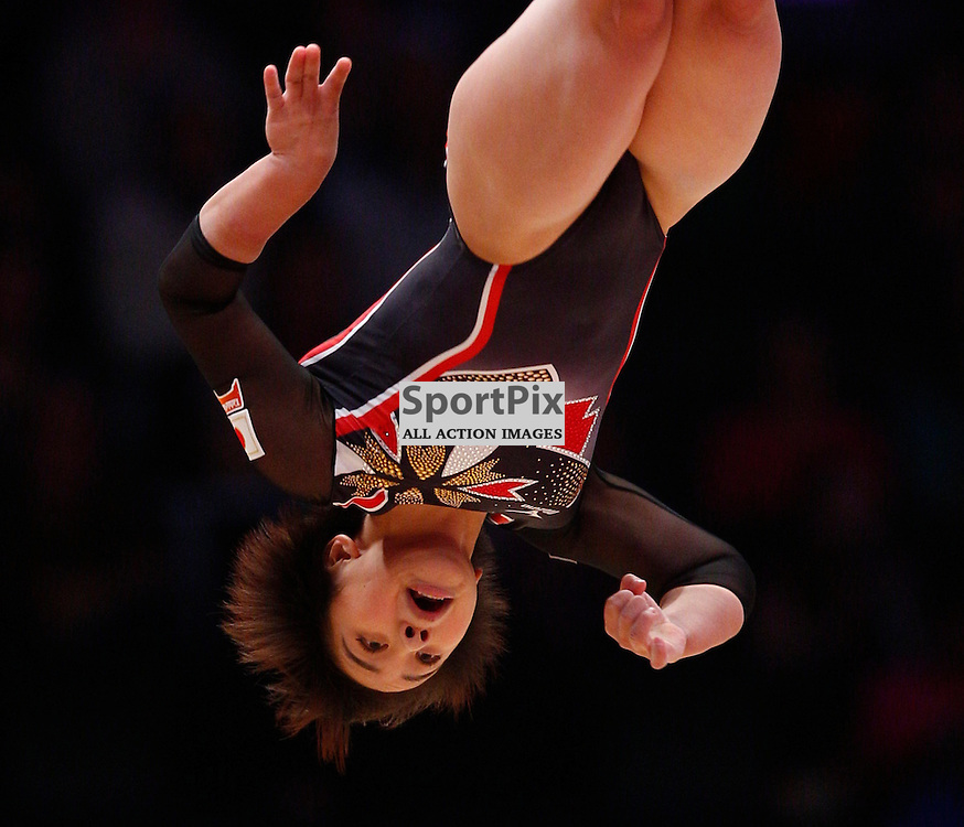 2015 Artistic Gymnastics World Championships being held in Glasgow from 23rd October to 1st November 2015.....Mai Murakami (Japan) performs in the Floor Exercise in the Women's All-Round Final...(c) STEPHEN LAWSON | SportPix.org.uk