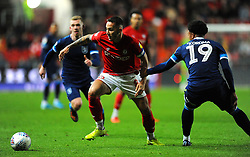 Josh Brownhill of Bristol City under pressure from Josh Koroma of Huddersfield Town- Mandatory by-line: Nizaam Jones/JMP - 30/11/2019 - FOOTBALL - Ashton Gate - Bristol, England - Bristol City v Huddersfield Town - Sky Bet Championship