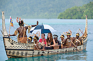 "CATHERINE, DUCHESS OF CAMBRIDGE AND PRINCE WILLIAM.travel in a war canoe accompanied by tribesman, to Tavanipupu, where they spent their last night of their tour of the Solomon Islands_17/09/2012.Mandatory credit photo: ©Hussein-DIASIMAGES/NEWSPIX INTERNATIONAL..""NO UK USE FOR 28 DAYS"" ..(Failure to credit will incur a surcharge of 100% of reproduction fees)..                **ALL FEES PAYABLE TO: ""NEWSPIX INTERNATIONAL""**..IMMEDIATE CONFIRMATION OF USAGE REQUIRED:.DiasImages, 31a Chinnery Hill, Bishop's Stortford, ENGLAND CM23 3PS.Tel:+441279 324672  ; Fax: +441279656877.Mobile:  07775681153.e-mail: info@newspixinternational.co.uk"