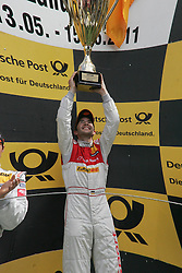 15.05.2011, Circuit Park, Zandvoort, NED, DTM 2011  2. Rennen, im Bild: Sieger Mike Rockenfeller mit Pokal.   // during the dtm race Zandvoort  race 02, on 15/05/2011  EXPA Pictures © 2011, PhotoCredit: EXPA/ nph/   Theissen       ****** out of GER / SWE / CRO  / BEL ******