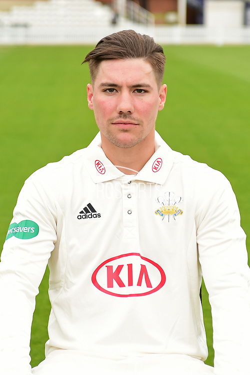 Rory Burns portrait during the Surrey CCC Photocall 2017 at the Oval, London, United Kingdom on 4 April 2017. Photo by Jon Bromley.