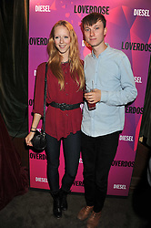 MORWENNA LYTTON COBBOLD and MATTHEW LASKEY at a party tocelebrate the launch of Diesel's new female fragrance 'Loverdose' held at The Box, 11-12 Walkers Court, Brewer Street, London on 7th September 2011.