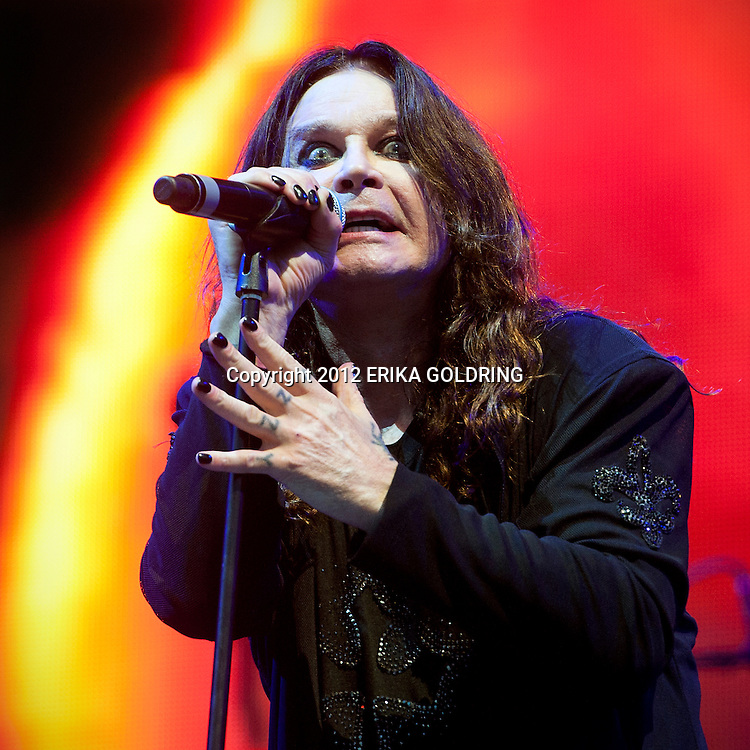 Ozzy Osbourne of Black Sabbath performs at Lollapalooza on August 3, 2012, in Chicago, IL. © Erika Goldring 2012 - All Rights Reserved.